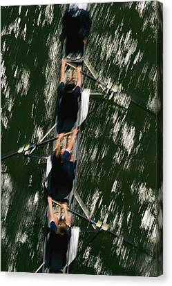 Skullers On The Potomac River In D.c Canvas Print by Brian Gordon Green