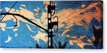 Sky - Travel Serigraphic Art Canvas Print by Arte Venezia