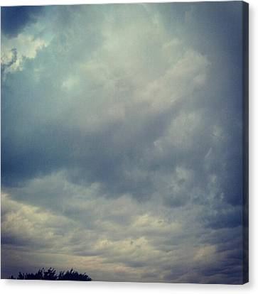 #sky #clouds #nature #andrography Canvas Print by Kel Hill