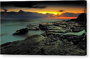 Sky Of Fire Canvas Print by Mark Lucey