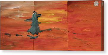 Sky On Fire Canvas Print by Jonathan Kotinek