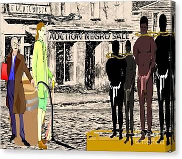 Slave Auction Canvas Print by Belinda Threeths