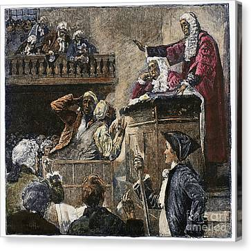 Slaves In Court, 1741 Canvas Print by Granger