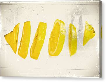 Sliced Lemon Canvas Print by Lacaosa