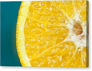 Sliced Orange Canvas Print by Bill Brennan