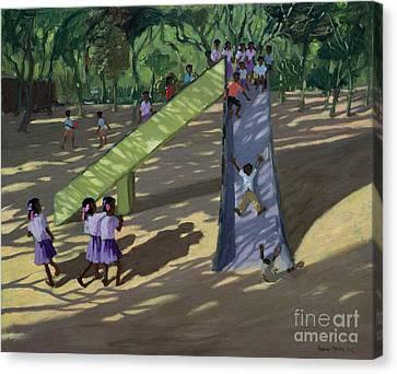 Slide Mysore Canvas Print by Andrew Macara