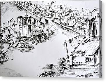 Slum Canvas Print by Sumit Jain