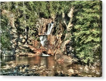 Small Falls Canvas Print by Brenda Giasson