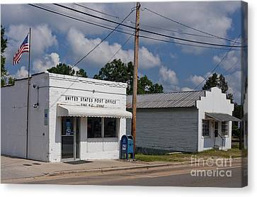 Small Town Post Office Canvas Print by Will & Deni McIntyre