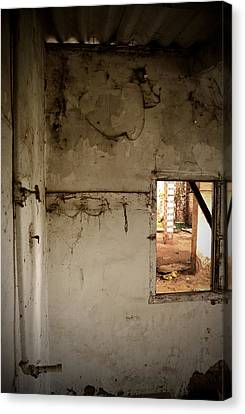Small Window In An Abandoned Kitchen Canvas Print by RicardMN Photography