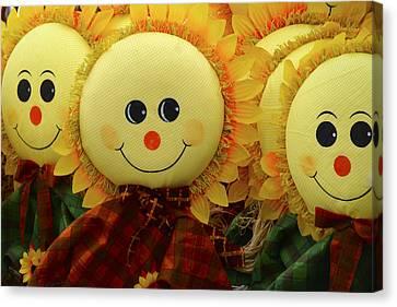 Smiling Faces 5 Canvas Print by Julie Palencia
