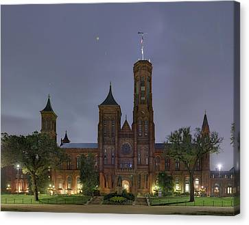 Smithsonian Castle Canvas Print by Metro DC Photography