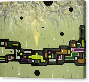 Smoke Factory - 2000 Canvas Print by Valerie Benedetti