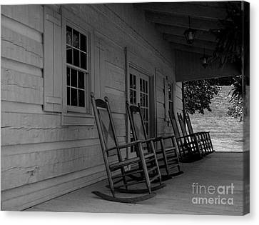 Smokey Mountain Front Porch Canvas Print by Elizabeth Coats