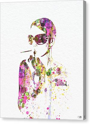 Smoking In The Sun Canvas Print by Naxart Studio