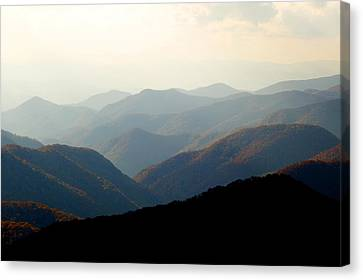 Smoky Mountain Overlook Great Smoky Mountains Canvas Print by Rich Franco