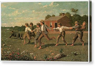 Snap The Whip Canvas Print by Winslow Homer