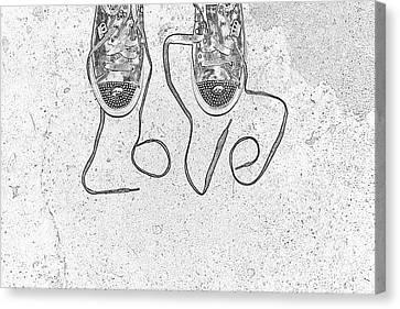 Sneaker Love 2 Canvas Print by Paul Ward