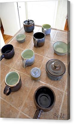 Snickerhaus Pottery Canvas Print by Christine Belt