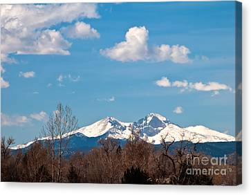 Snow-capped Mountain Majesties Canvas Print by Harry Strharsky