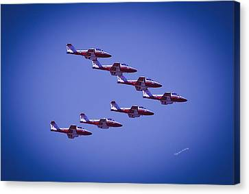 Snowbird V Formation Canvas Print by DigiArt Diaries by Vicky B Fuller