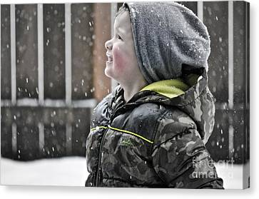 Snowflake Thoughts Canvas Print by Gwyn Newcombe