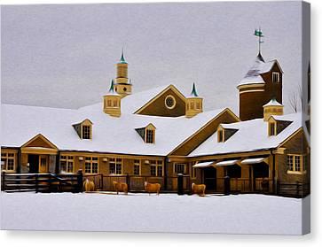 Snowy Day At Erdenheim Farm Canvas Print by Bill Cannon