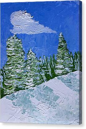 Snowy Pines Canvas Print by Heidi Smith