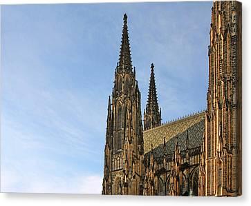 Soaring Spires Saint Vitus' Cathedral Prague Canvas Print by Christine Till