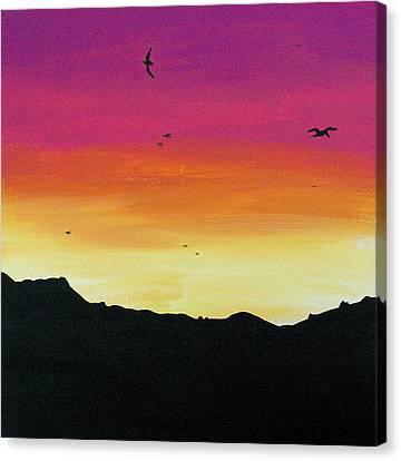 Soaring Sunset Canvas Print by Jera Sky