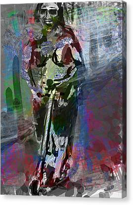 Sober Scooter Canvas Print by James Thomas
