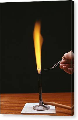 Sodium Flame Test Canvas Print by Andrew Lambert Photography