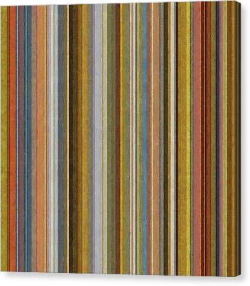 Soft Stripes Ll Canvas Print by Michelle Calkins