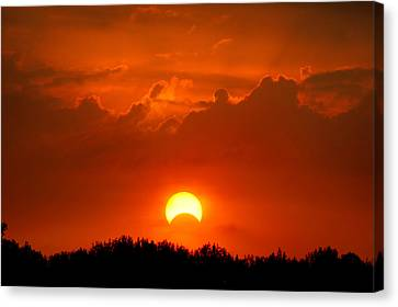 Solar Eclipse Canvas Print by Bill Pevlor