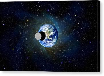 Solar Eclipse Canvas Print by Bruce Iorio