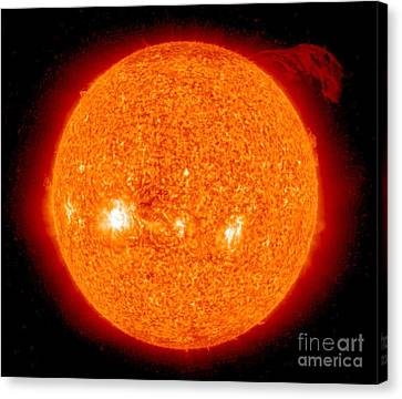 Solar Prominence Canvas Print by Nasa