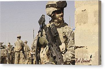 Soldiers. Canvas Print by Red Deviant