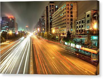 Some Beijing Street Canvas Print by Tony Shi Photography