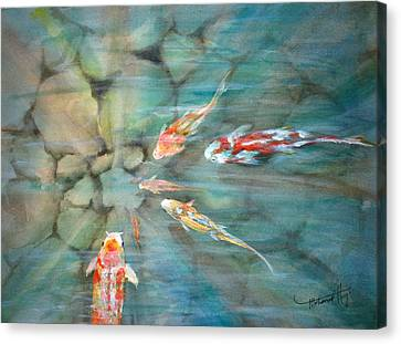 Something Fishy Canvas Print by Mohamed Hirji
