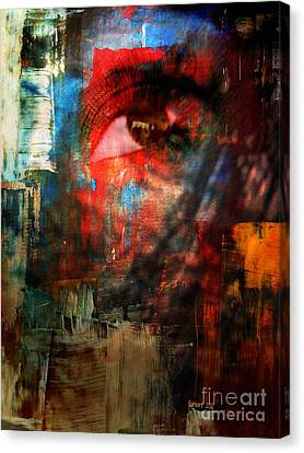 Something In Her Eye Canvas Print by Fania Simon