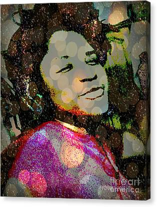 Sometimes When I'm Sad I Dance This Tune - The  Devil Lost The Battle Canvas Print by Fania Simon