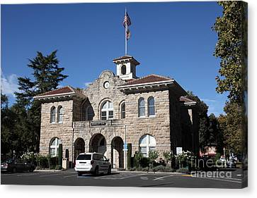 Sonoma City Hall - Downtown Sonoma California - 5d19266 Canvas Print by Wingsdomain Art and Photography