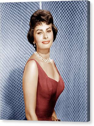 Sophia Loren, Ca. 1950s Canvas Print by Everett