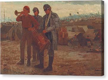 Sounding Reveille Canvas Print by Winslow Homer