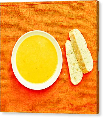 Soup Canvas Print by Tom Gowanlock
