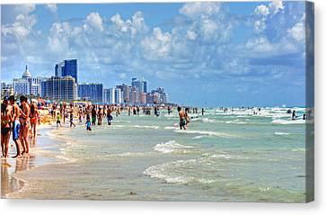 South Beach Canvas Print by Dieter  Lesche