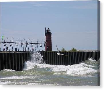 South Haven Lighthouse Canvas Print by Matthew Winn