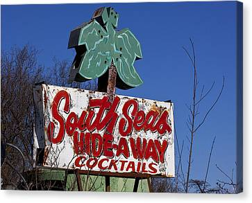South Seas Sign Canvas Print by Garry Gay