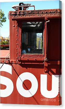 Southern Pacific Caboose - 5d19235 Canvas Print by Wingsdomain Art and Photography