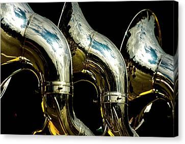 Souzaphones On Parade Canvas Print by by Ken Ilio